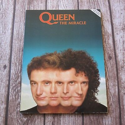 QUEEN The Miracle Official 1989 EMI Music Song Book Guitar Piano Vocals + Poster