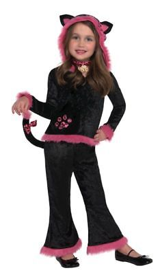 Teen Cat Costume Witches Kitty Girls Halloween Catsuit Fancy Dress
