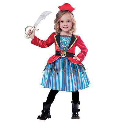 Child Pirate Girls Costume Buccaneer Book Week Day Fancy Dress Outfit New