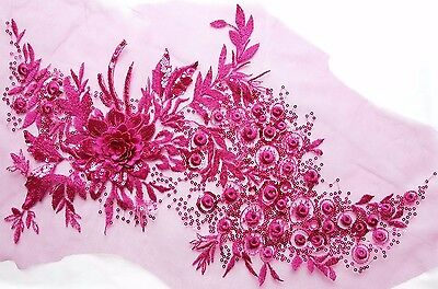 ab0beceb89e5f 3D EMBROIDERED MESH Roses Dress Fabric (20.F-1000-M) - £0.99 ...