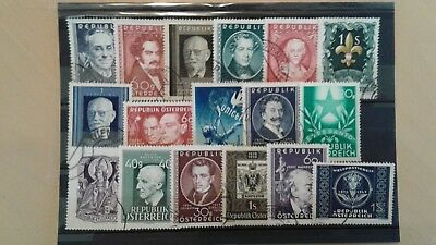 Austria nice lot of better used stamps cv $55