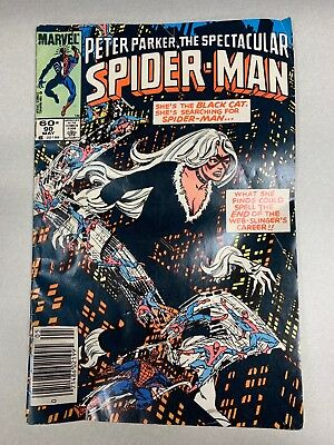 PETER PARKER THE SPECTACULAR SPIDER-MAN #90 1984 COMIC First Black Costume