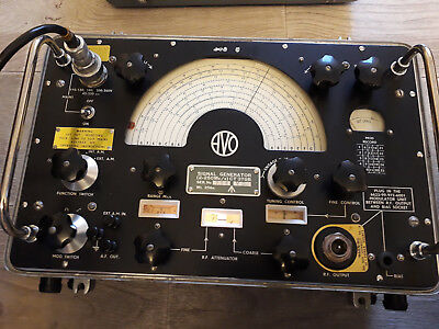 AVO Military Signal Generator CT378B, RF (uses valves) Army Radio, NATO 2-250MHz