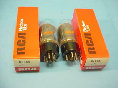 """MATCHED PAIR RCA """"6L6GC"""" SAME DATE CODE NEW in the BOX"""