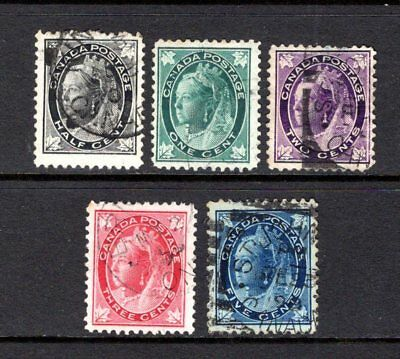 CANADA QV 1897-8 sg142-146 GOOD TO FINE USED x 5 STAMPS CAT £13.25