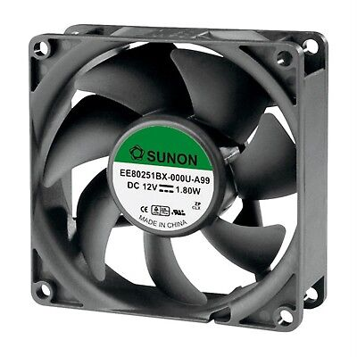 SUNON® EE80201S1-000U-A99 DR Brushless Axial Fan 12V DC 80 x 80 x 20mm