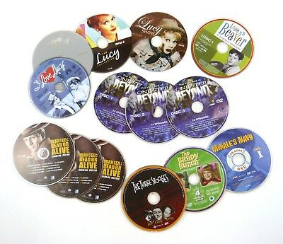 14 DVD Discs 20th Century TV Sampler - Lucy Beaver Brady Wanted + (discs only)