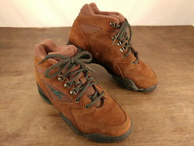 707e370ea6bb VINTAGE REEBOK HIKING Boots Women s Size 7.5 Suede Leather Teal EUC ...