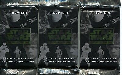 Star Wars CCG Premiere Unlimited Lot Of 20 Sealed Booster Packs 300 Cards