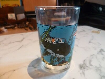 Tintin Collection Verre Moutarde (Grande Image) Lombard 1974,