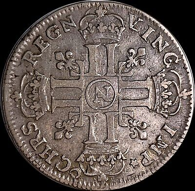 France   Louis XIV.   1/2 ECU         KM# 273.11