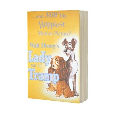 Lady And The Tramp Classic Film Poster Paperback Notebook Plain Note Pad Disney