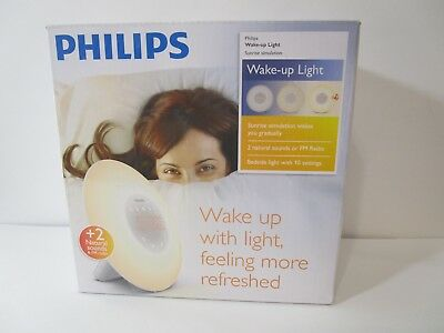 Philips Wake-Up Light Alarm Clock w/ Sunrise Simulation/ Radio, NOB, *READ BELOW