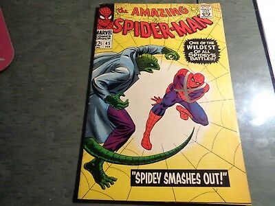 The Amazing Spiderman #45 Lizard Appearance High Grade Fine 6.0 or Better