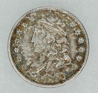 1830 Capped Bust Half Dime H10C Xf / Au Extra Fine To About Uncirculated (8382)