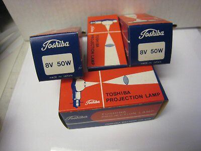 4 Toshiba Projector Lamp Bulbs 8V 50W CXL/CXR New in Box  from full case RARE