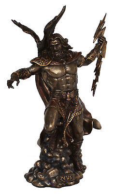 Zeus Statue King of the Olympians God of the Sky Thunder Cold Cast Bronze Resin