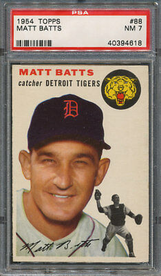 1954 Topps #88 Matt Batts PSA NM 7 *4618