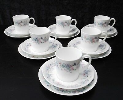Wedgwood Angela Trios comprising  cup, saucer and plate  x 6