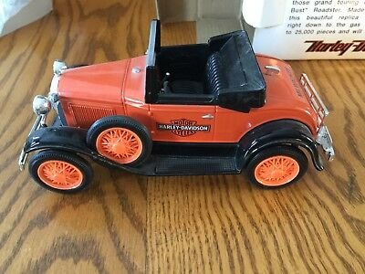 HARLEY DAVIDSON Die-cast 1929 Model A Roadster BANK 1:25 Scale NEW in BOX
