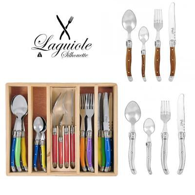 Laguiole Silhouette Cutlery Set 24 pcs Stainless Steel 430 Inox Dinner Bulk