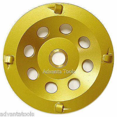 "5"" Quarter Round PCD Grinding Cup Wheel 4 Segments - 7/8""-5/8"" Arbor"