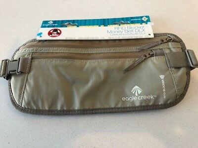 Eagle Creek Deluxe Money Belt, RFID Protection, Khaki