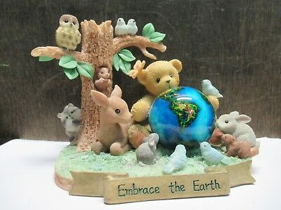 Cherished Teddies 706876 'embrace The Earth' Abraham Figurine Pre-Owned
