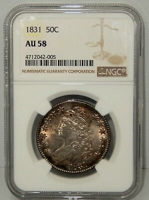 1831 Capped Bust Half Dollar - NGC Certified AU 58 !!