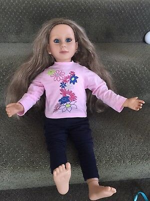 """MY TWINN Posable 23"""" Doll -  blonde hair blue eyes - WITH Pant Outfit.  Posable."""