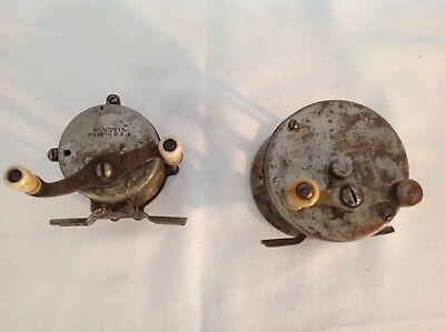 Vintage Old Antique Hendryx Reel Lot of 2 a 80 and 100