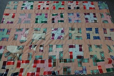 """1940's Tied Quilt- LONDON STAIRS Pattern- 50""""x71""""- CUTTER QUALITY - SALE"""