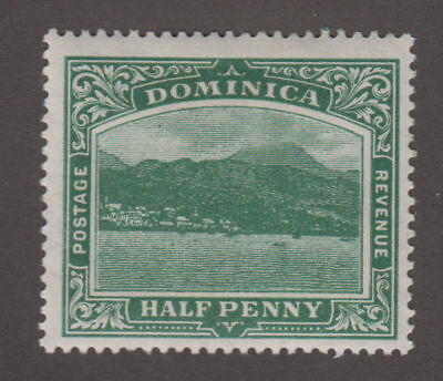 Dominica - 1907 1/2 Pence Green. Sc. #50. SG #37. Mint