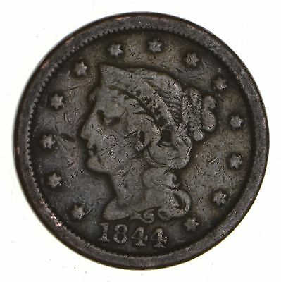 Tough - 1844 Large Cent - US Early Copper Coin *903