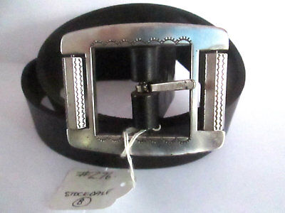 "Unisex Stockdale Quality Hand Crafted Cow Hide Leather Belt sz 30"" (276)"
