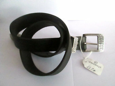 "Unisex Stockdale Quality Hand Crafted Cow Hide Leather Belt sz 30"" (277)"