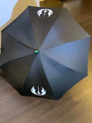 Star Wars Yoda Light Up Lightsaber Umbrella with carry case Disney USED WORKING!