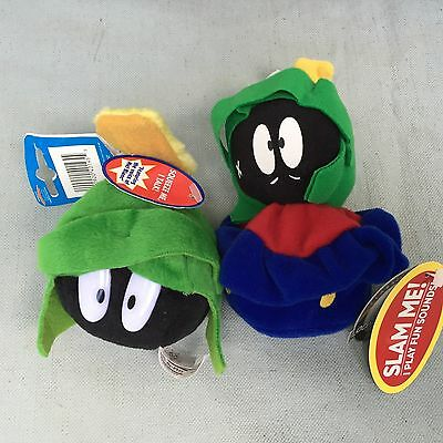 Marvin The Martian Plush Doll Slam Me Squeeze Me Plays Sounds Voice Of Mel Blanc