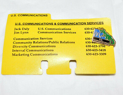 Ronald McDonald U.S. communications services dinosaur on pin with it card