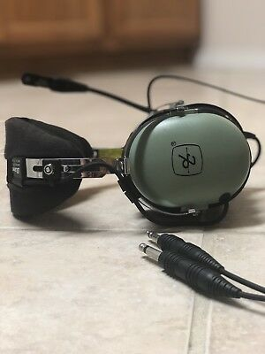 David Clark H10-60 General Aviation Pilot Headset - Dual Plugs - Tested