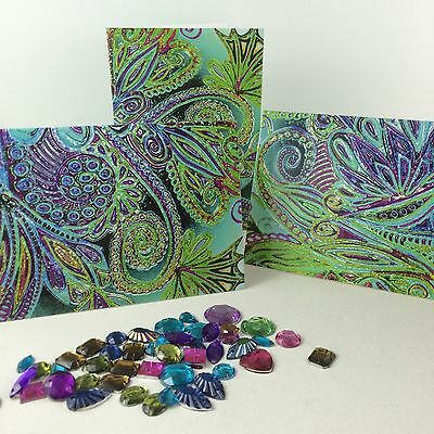 Aqua Rainbow Candy Cards 3 Set Original Gift Tags Small Cards label note card