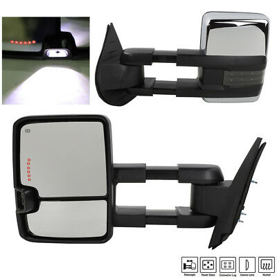 New Passenger//Right Side Power Non-Heated Towing Mirror for GMC C//K Truck 88-98