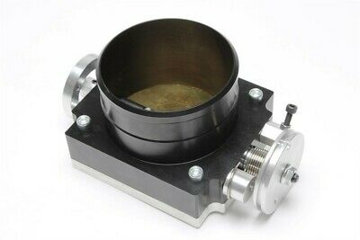 Aluminium Butterfly Valve 3 15/16in Black with Adapter Board to Screw in,Welding