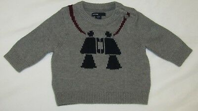 NWT Baby Gap Boys 0-3 Mon. Intarsia Sweater,7-12 lbs.up to 23 Ins.