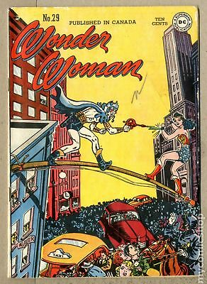 Wonder Woman (1st Series DC) Canadian Price Variant #29 1948 VG 4.0