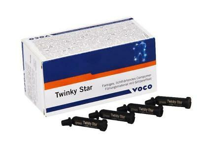 VOCO TWINKY STAR Coloured Light Cure Componor Restorative 25 CAPSULE 5 Shades