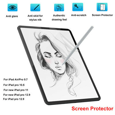 Paper Texture Anti Glare Matte Film Screen Protector for iPad pro 10.5 11 12.9