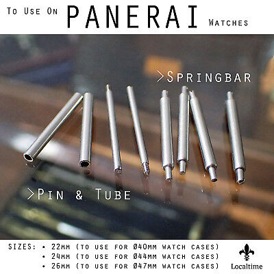 2 Pairs Replacement Spring Bars Or Pins & Tubes For Panerai Watches 22-24-26mm
