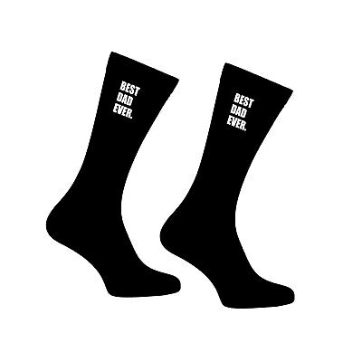 Fathers Day BEST DAD EVER Socks Birthday Boyfriend Husband Ideal Gift Printed