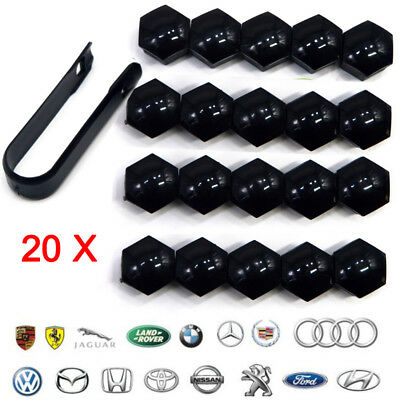 UK 20X Wheel Nut Caps Bolt Cover 17mm for Audi VW Polo Skoda Seat PEUGEOT BMW VW